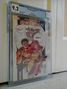 INVINCIBLE IRON-MAN #4 - MARY JANE VARIANT - CGC 9.2 - CHEAP!