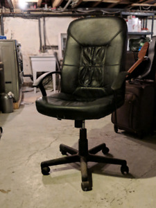 Black office chair with casters