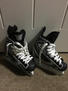 Black and Grey CCM Hockey Skates size 2
