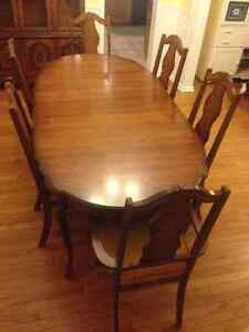 Complete Dining Table Suite - Table, 6 Chairs, and China Cabinet Belleville Belleville Area image 5