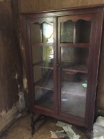 Antique vintage Hutch China cabinet
