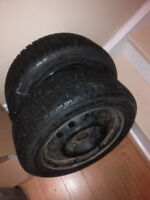 2 winter tires with rims 195 55 R15