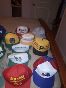 lot of hats, base ball, beer, train and Chipman N.B.