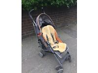 Maclaren stroller pushchair with sheepskin