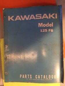 71 72 73 Kawasaki 125 F6 F6-A F6-B Parts Catalogue
