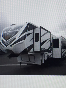 2014 FUZION342 F FIFTH WHEEL/TOY HAULER FOR SALE