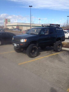 """1996 Toyota 4Runner 3.4L 4x4 3"""" Body + 3"""" Susp Lots of Parts Inc London Ontario image 1"""