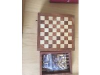 Travel chess set, as new