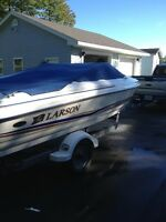 2003 18 ft Larson Bowrider with Trailer