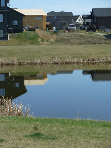 Great residential lot in Calmar, walk out on manmade lake