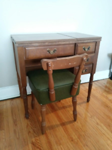 Vintage Sewing Desk and Chair for Sale