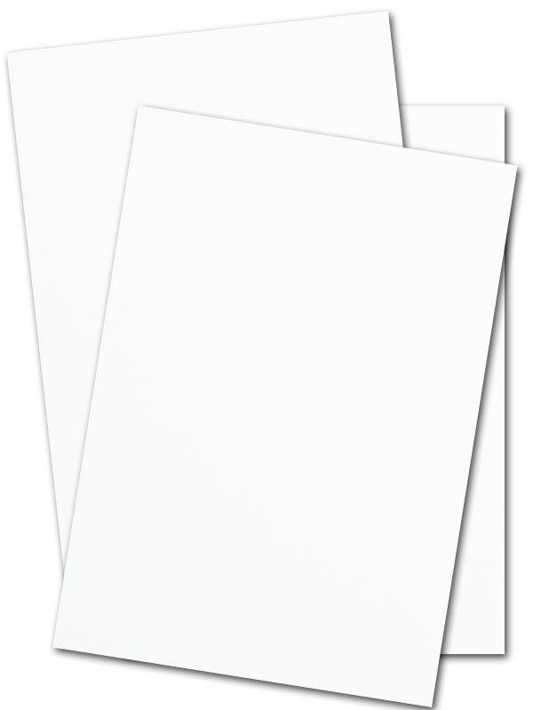 250 sheets 8.5 x 11 (110 lb) white card stock paper