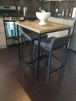 High table and bar stools for sale