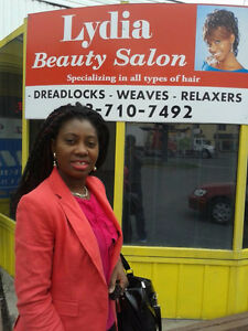 LYDIA : DREADLOCKS - WEAVES - MICRO LINK - RELAXER -WASH & SET