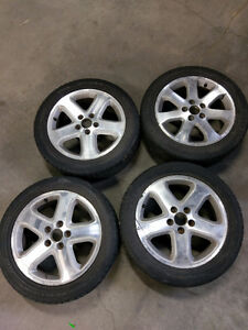 17in mags with tires 215/55/R17 5x114.3 17po Roues et pneus West Island Greater Montréal image 3