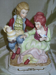 Victorian looking porcelain figurien