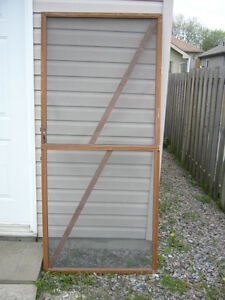 Vintage Screen Door-Garden or Wedding Decor