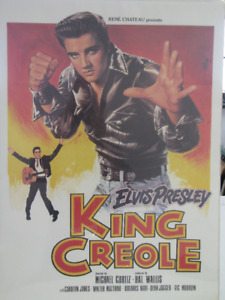 Elvis king creole poster