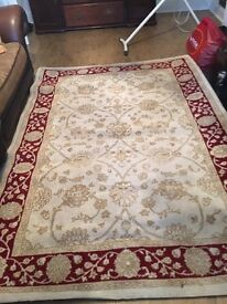 Cream and red rug 160 x230 large