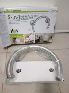 2 in 1  shower and tub grab bar