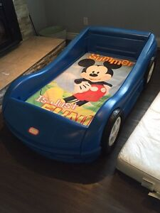 Little tikes car bed and mattrrss