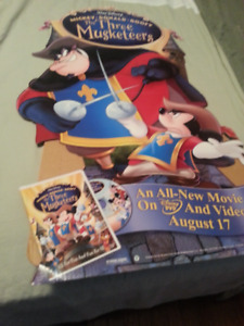 "2004 ""Disney""Advertising POSTER for DVD/Video ""THREE MUSKETEERS"""