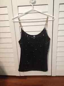 Black Sequence Top for Sale
