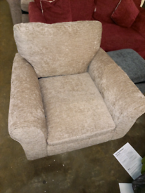 Mink velvet Sofa arm Chair only £75. Ex display. RBW Clearance Outlet