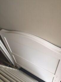 Cream cot bed