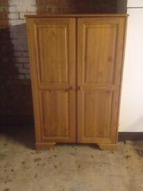 Pine 2 Door Wardrobe or Cupboard