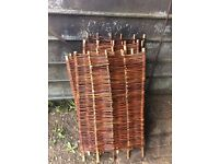 6 willow hurdles approx 2ft wide x 3ft high