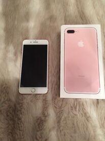 iPhone 7 plus Rose Gold 32 gb - EE