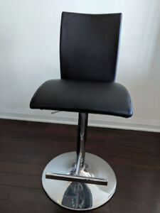 3 Adjustable Height Bar Stools (Bonded Leather). $45 Each.