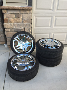 General Altimax HP 225/40R18 92H Tires on BOSS rims for sale