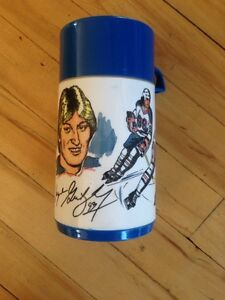 Thermos Wayne Gretzky vintage antique kitch Aladdin