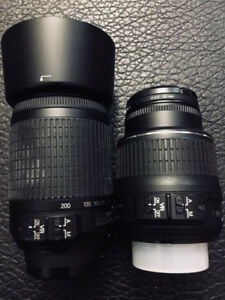 Nikon VR 18-55mm and VR 55-200mm Combo. Brand new condition