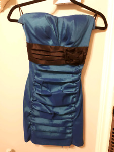 Pretty teal party dress