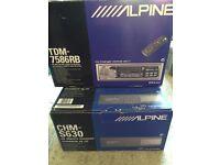 Alpine Car Radio and Alpine Remote CD Changer