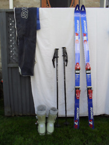 SKIS...POLES....BOOTS and CARRY BAG all for $60.00