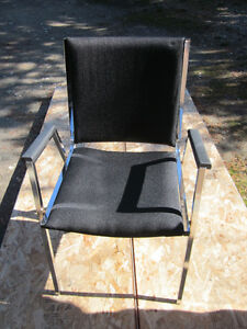 4 Stacking Chairs w/Arms-Heavy Duty Industrial Style-Steel Frame