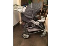Graco Pram/pushchair grey circles in excellent condition