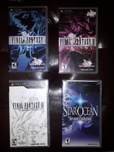 PSP Final Fantasy 1, 2, 4, & Star Ocean 2