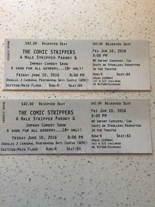 The Comic Strippers tickets (2)