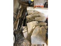 Yorkshire stone slates old grey