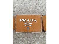 PRADA tan leather belt size 10-16