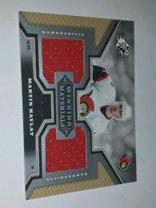 Martin Havlat winning materials NHL hockey jersey card