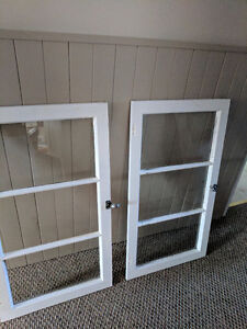 Two old wooden windows - make great wall hangings!