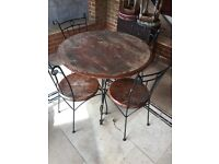 Patio. Garden Table and four chairs