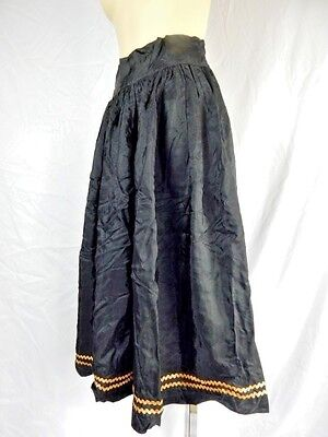 Vintage 1950s Black Retro Skirt Rockabilly Halloween Witch Swing Dance Gothic - Vintage Halloween Dance Party