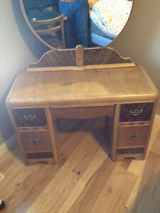 antique dresser and bed frame